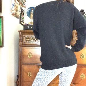Vintage Sweaters - Rainbow Vintage Sequin Angora Lambswool Sweater